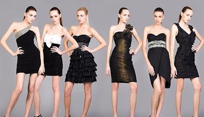 къси черни роклички за бал