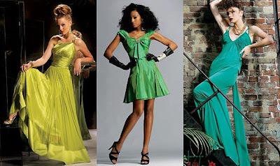 Зелени бални рокли