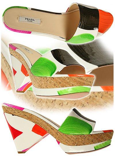 летни чехли с платформи Prada