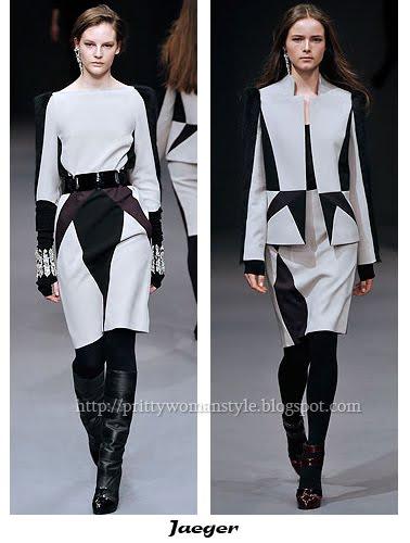 Дамски костюми черно и бяло Jaeger