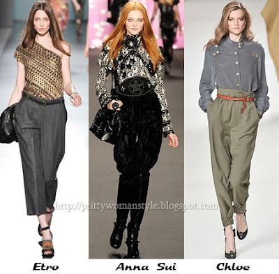 Широки дамски панталони бридж