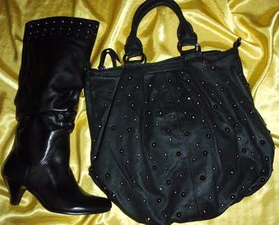 черна чанта и ботуши