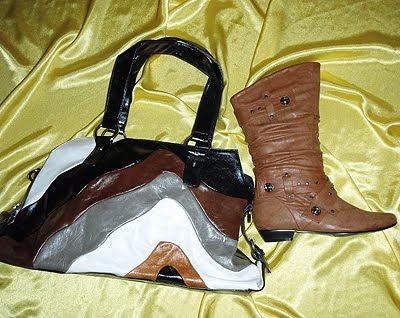 кафяви боти и чанта пачуърк