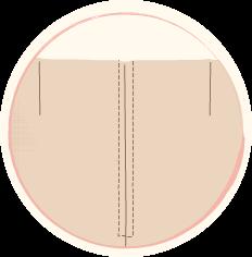 обикновен цип с два тегела на равно разстояние