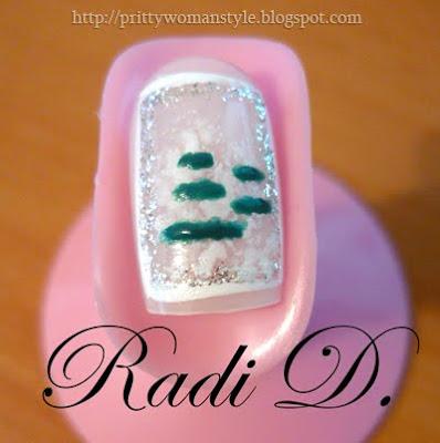 nail art - снежно борче