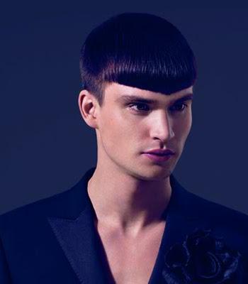 мъжка подстрижка с бретон