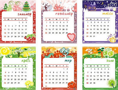 Lovely calendar template-1
