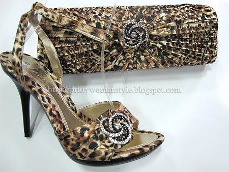леопардови сандали с чанта
