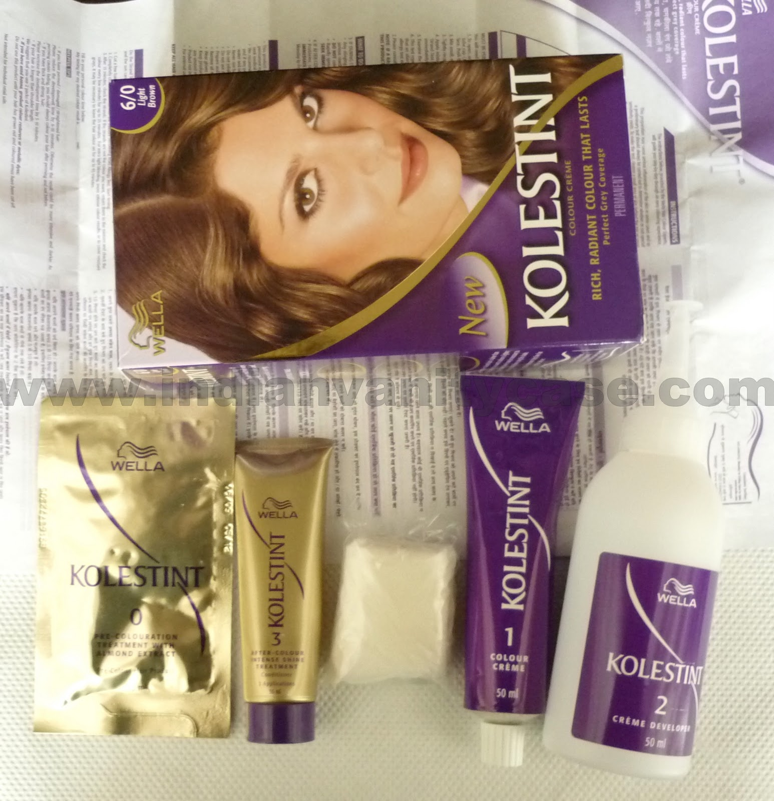 Indian Vanity Case Wella Kolestint Hair Color Review Swatch