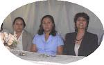 Licda. Angela María de los Santos de Marte, Rosanna Frías y Mireya Batista - Coordinadoras TICs