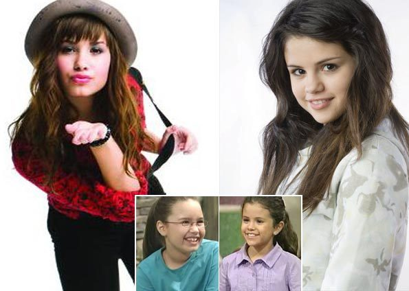 pics of selena gomez and demi lovato on barney. selena gomez and demi lovato