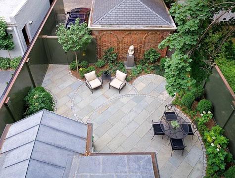 Mi casa exteriores patios for Materiales para patios exteriores