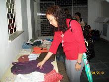 Prª Rita Caseiro abençoando o Bazar Social
