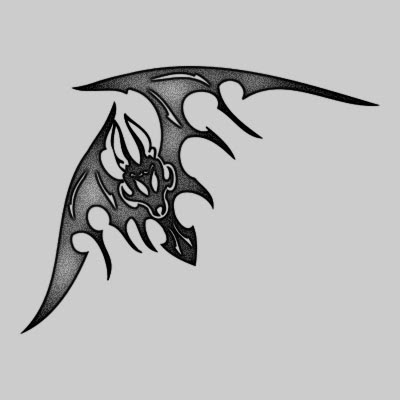 You can DOWNLOAD this Bat Tattoo Design - TATRBA06