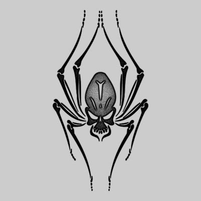 You can DOWNLOAD this Spider Tattoo Design - TATRSP09