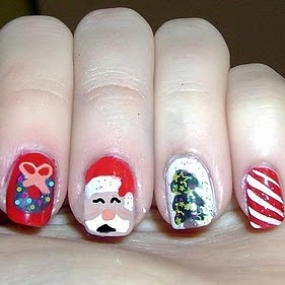 Christmas nail art designs short nail designs christmas nail art designs prinsesfo Image collections