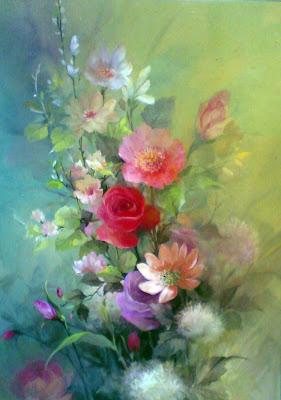 lukisan karya Toto SukatmaLukisan Bunga,lukisan bunga mawar,lukisan bunga aster,ukisan bunga cat minyak,lukisan bunga rose,Lukisan terbaik,lukisan,lukisan kehidupan,lukisan masyarakat pinggiran,lukisan krayon