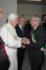 Il Sindaco Giannone e Papa Benedetto XVI