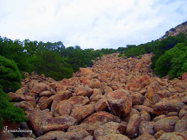 Near Lawton, Oklahoma a view up Mt Scott