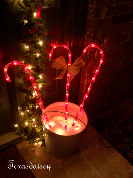 Texasdaisey creations candy cane lights 12022010 aloadofball Image collections