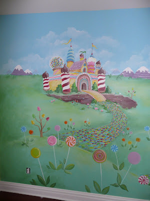 candyland themed mural for girl s playroom stickers muraux pour d 233 co de chambre enfant en 49 photos