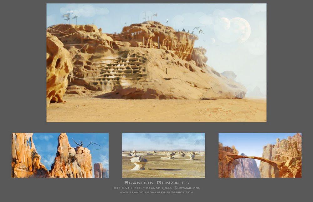 Desert Ruins Matte Painting Concepts