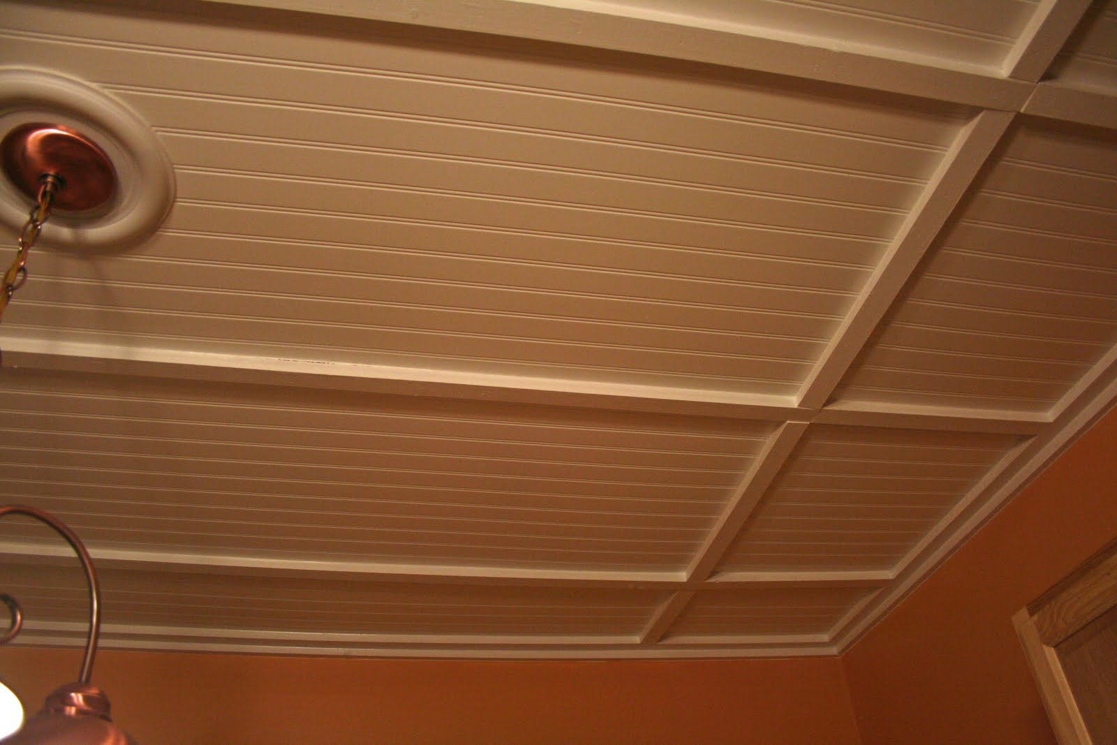 Beadboard Drop Ceiling