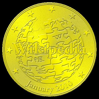 Wikipedia coin 2010