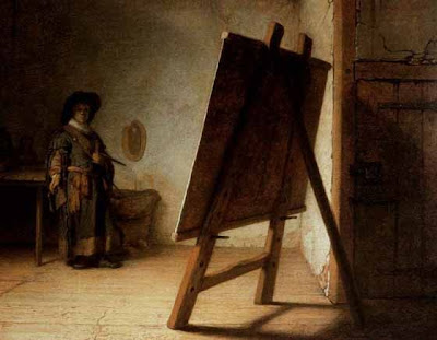 Artist in His Studio - Rembrandt