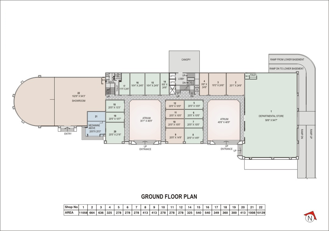 fourth fifth floor plan