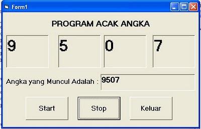 program angka random dengan VB 6.0