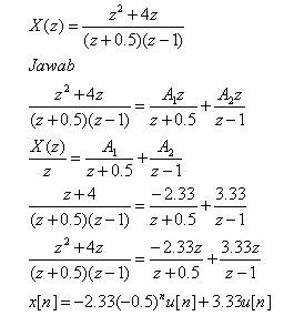 contoh persamaan invers transformasi z