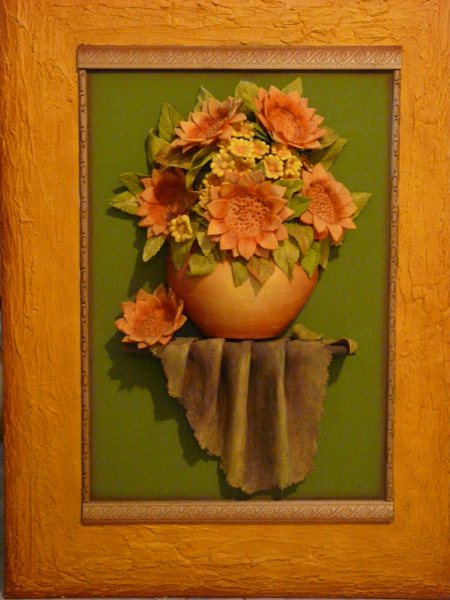 Cuadros en relieve flores en relieve - Cuadros con relieve modernos ...