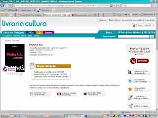 Pré-Venda Poder S.A. na Livraria Cultura!