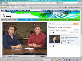 Beto Ribeiro é entrevistado na TVUOL!