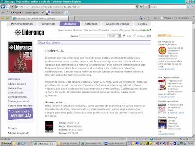 Revista Liderança fala de Poder S.A., livro de Beto Ribeiro.