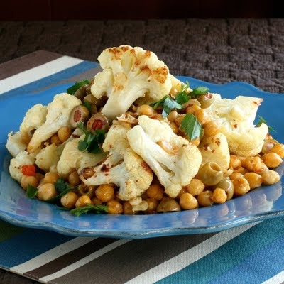 Have Recipes-Will Cook: Roasted Cauliflower with Chickpeas and Olives