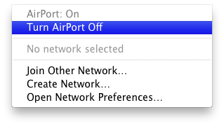AirPort turn off define:idiosyncrasy