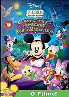 Filme Poster  As Aventuras Do Mickey No País das Maravilhas DVDRip RMVB Dublado