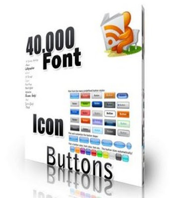 Download 40.000 Fonts, Icons & Buttons for Web, Designer