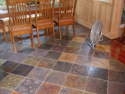 The Perpetual Remodeler: Installing a Kitchen Slate Floor