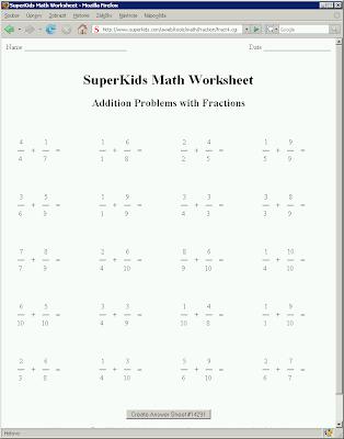 math worksheet : superkids math worksheets fractions  educational math activities : Superkids Math Worksheet Creator