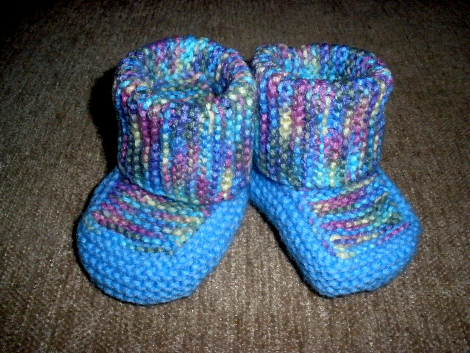 Free Baby Booties Knitting Pattern Straight Needles