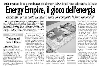 energy empire nuova sardegna