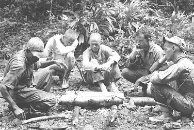 Astronauts in tropical survival training 1963