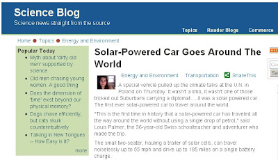 science blog