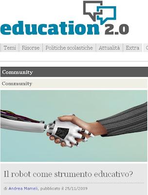 Il robot come strumento educativo?