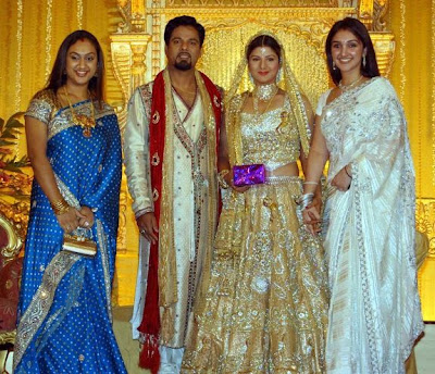 Rambha wedding reception stills / photos