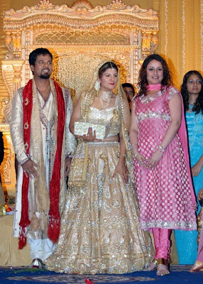 Ramba marriage reception stills / photos with Sonia Agarwal