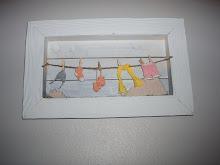 Kläder på tvättlina : )